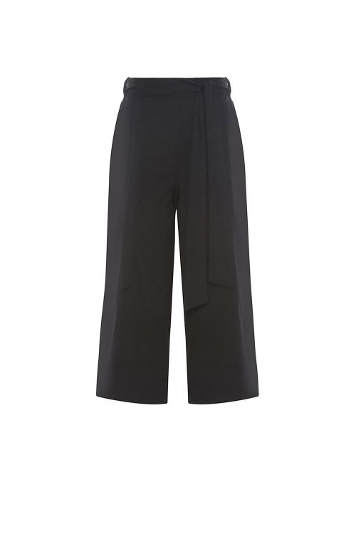 calça tricoline com faixa cintura