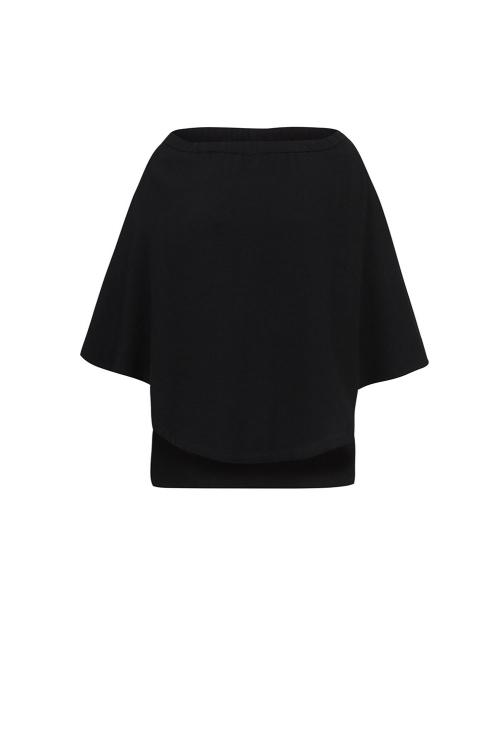 blusa alf textura fluído ombro a ombro