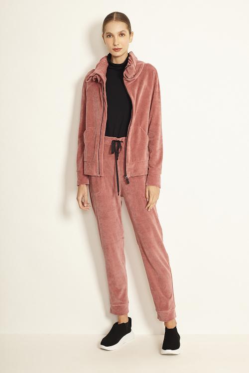 jaqueta plush com capuz