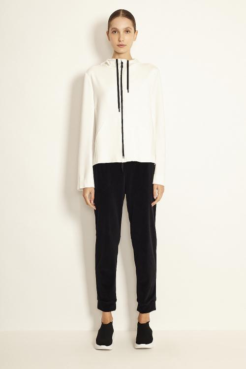 jaqueta duplo leve com capuz
