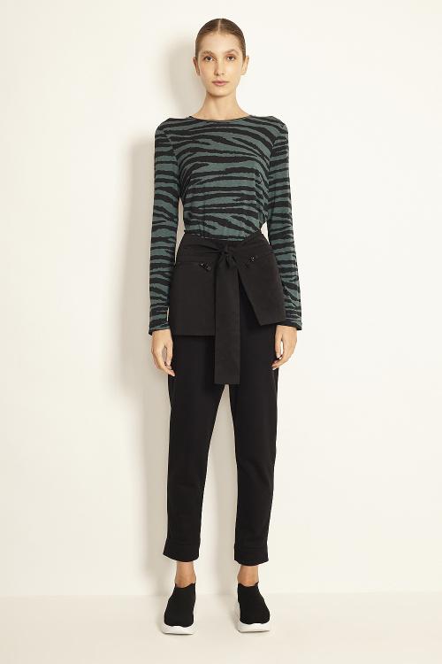 blusa  modal com lycra zebra manga longa