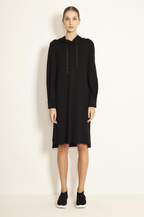 vestido duplo leve com capuz