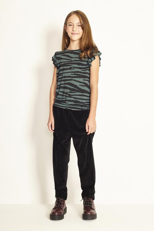 blusa  modal com lycra zebra manga curta