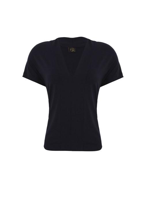 blusa viscose básico recorte